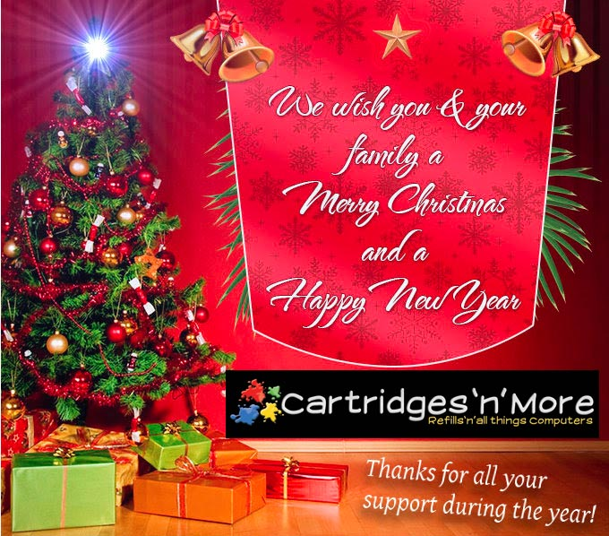 Merry Christmas & Happy New Year | Cartridges \'n\' More – 4 Gold ...